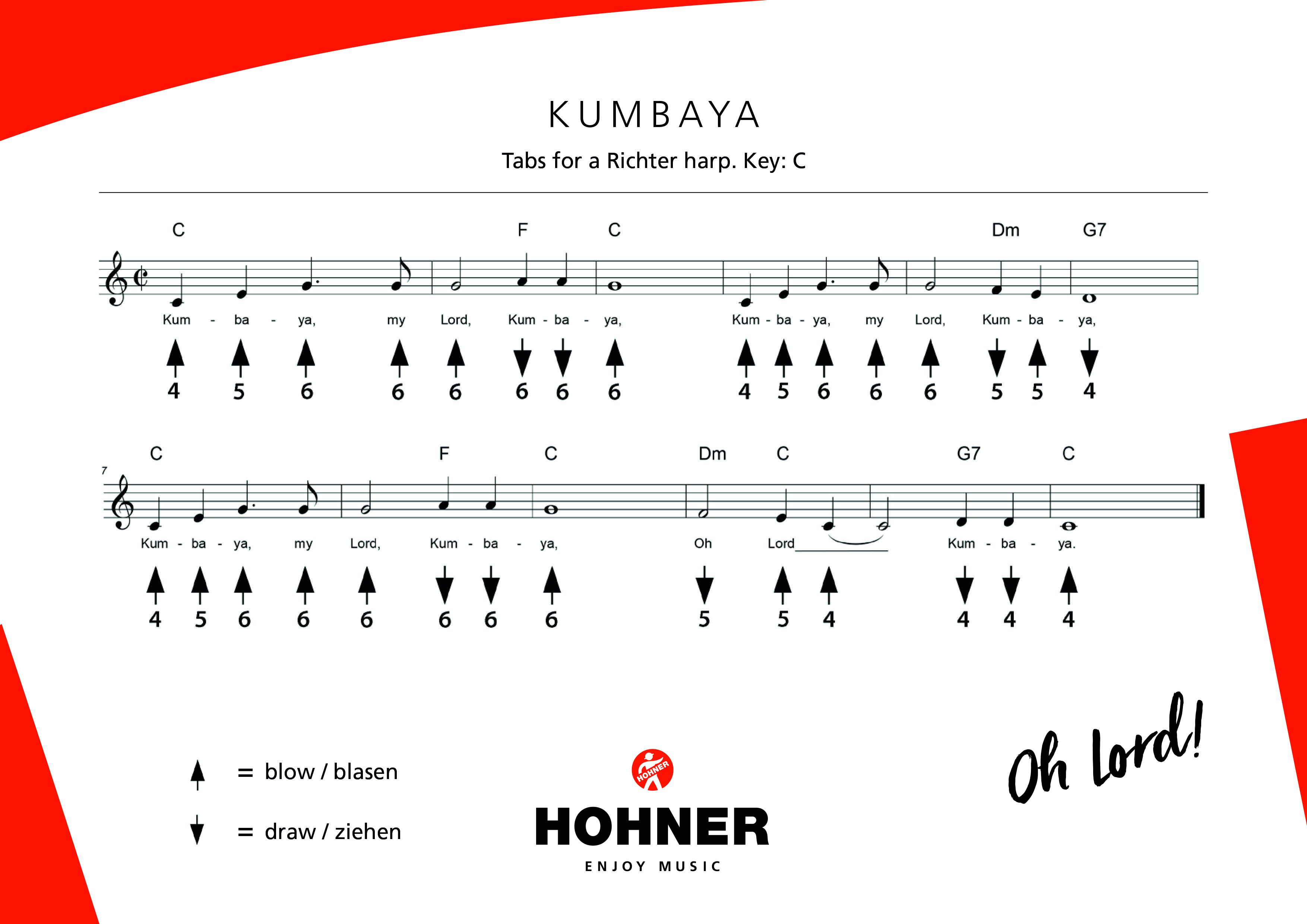 Tabs for harmonica - Tabs & Sheet music - HOHNER - enjoy music